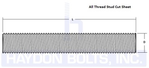 Threaded Rod • All Thread • Fully Threaded | Haydon Bolts