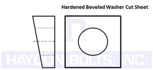 Hardened Beveled Washer - Haydon Bolts Inc