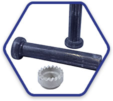 3//4 x 4-3//16  Weld Stud Low Carbon Headed  with Ferrels 100  count