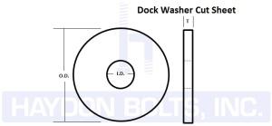 Dock Washers Cut Sheet - Haydon Bolts Inc