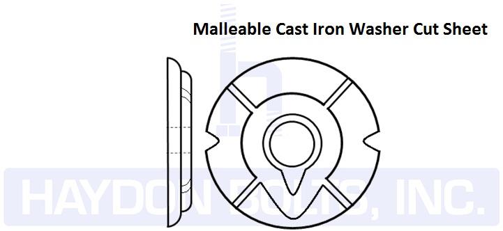 Malleable Cast Iron Washer - Haydon Bolts Inc - Haydon