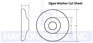 Ogee Round Washers - Haydon Bolts Inc