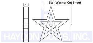 Star Washers Cast Iron Retaining
