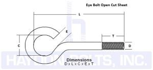 Eye Bolt Open Cut Sheet - Haydon Bolts
