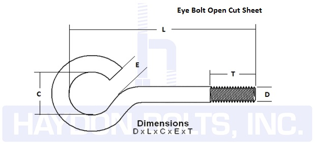 Eye Bolts - Haydon BoltsHaydon Bolts