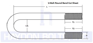 U Bolt Round Bend Cut Sheet - Haydon Bolts