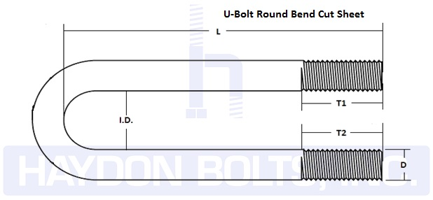 U-Bolts • Round Bend U-Bolts • Fasteners | Haydon Bolts