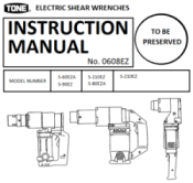 60EZA80EZA90EZ110EZ Shear Wrench Manual - Preview