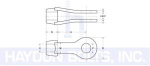 Clevis Cut Sheet - Haydon Bolts Inc